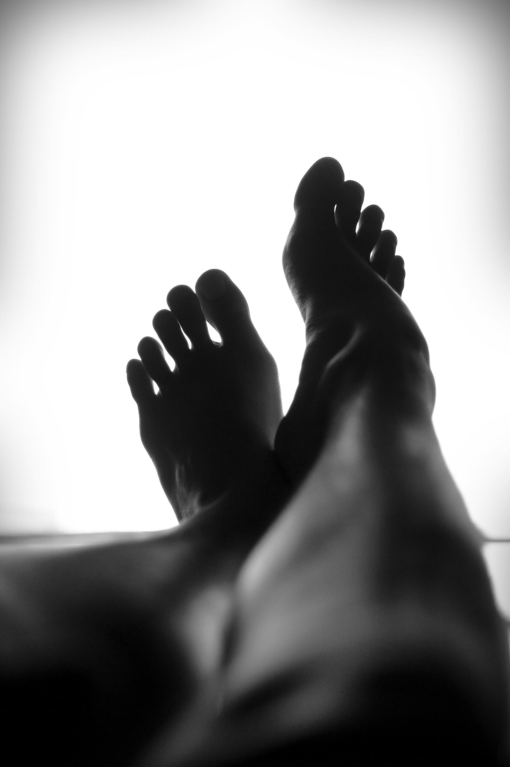 Why do people rub their feet together.